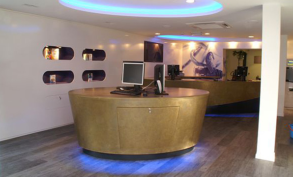 bronze retail desk