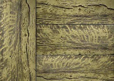 bronze on wood