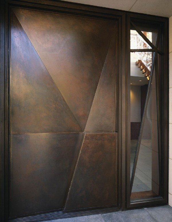 designer Door aged bronze